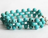 Turquoise bracelet summer blue bracelet natural stones best friend birthday gift - asteriascollection