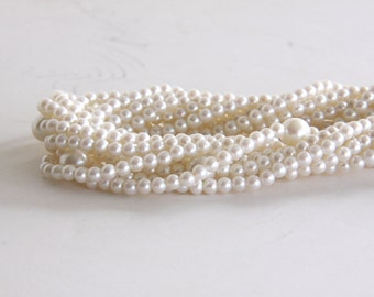 Pearl Necklace - Vintage 8 Strands Faux Peals  -  Retro Necklace - Wedding - Hollywood - Bridal Gift - Traditional Look - Retro