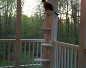"""Outdoor Composite Climbing Cat Tower for Porches, Patios, 68"""" cat tree w/ no-snag carpeting. Outdoor cat furniture."""