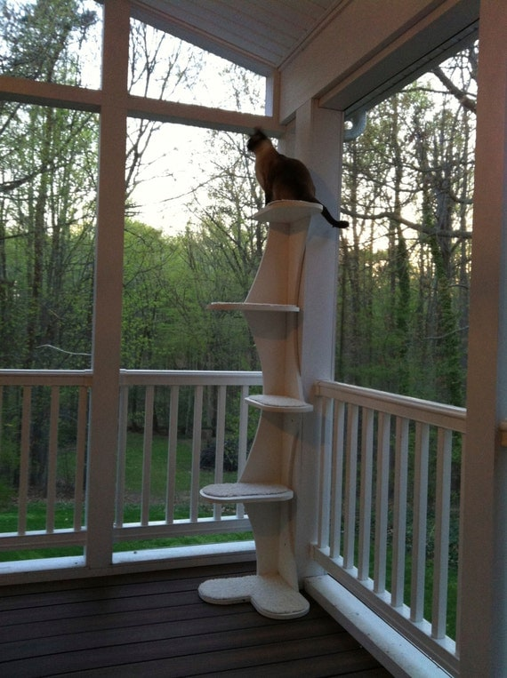 Outdoor Composite Climbing Cat Tower For Porches By