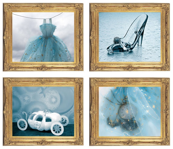 Cinderella Wall Art Digital Download Set Of 4 Cinderella