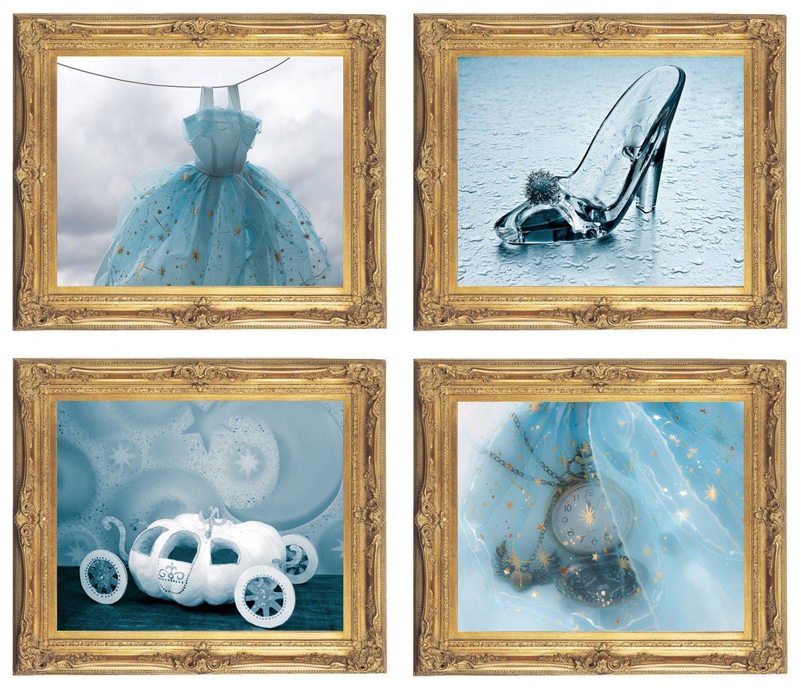 Cinderella Wall Art Digital Download Set of 4 Cinderella