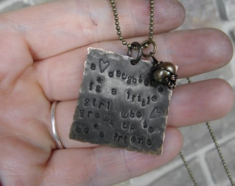 Daughter quote  Necklace