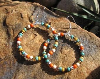 Southwestern - Boho Hoop Earrings