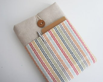 13 inch Laptop Sleeve - Macbook Air or Pro, Custom Size for Your 13'' Laptop , Padded Sleeve Case- Button will be different