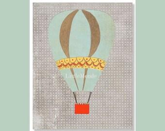 Nursery Art Prints, Baby Girl Nursery Prints, Baby Boy Nursery Prints, Nursery Wall, Modern Nursery Art, Grey Nursery Print, Balloon Print