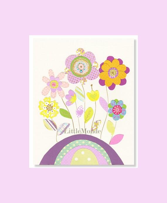 Baby Girl Nursery Prints Purple Nursery Art Lavender