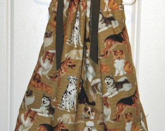 Pillowcase dress featuring Dogs Size 4T only  : AN002