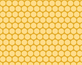 "Riley Blake Designs ""Peak Hour"" Circles in Yellow 1 Yard Cut"