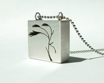 """Sterling Silver Pendant, """"Cut it Out"""""""
