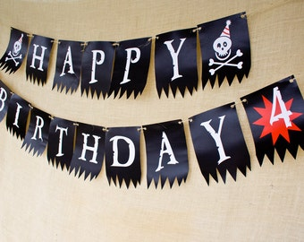 Pirate Party Birthday Banner- Printable
