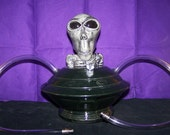 "9"" Double  Hose Alien with Saucer Hookah Tobacco Pipe"