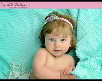 Felt Flower Baby Headband - Sweet Little Hydrangea Blossoms - Baby Newborn Photoprop
