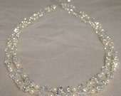 Bridal Jewelry Necklace Swarovski Crystal, Pearl and Rhinestone n247 Wedding Necklaces