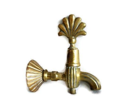 Vintage Water Faucet Ornate Brass Spigot Tap Industrial Home