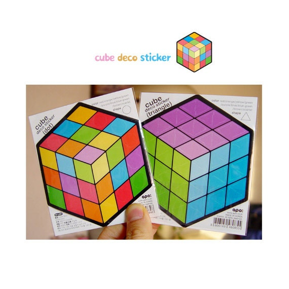 items similar to rubik 39 s cube deco stickers 4 sheets on etsy. Black Bedroom Furniture Sets. Home Design Ideas