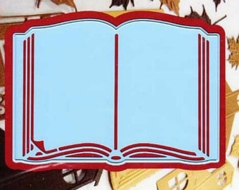 Open Book Die - Cut and Emboss - Paper Cutting - Marianne Design - Bible - Blank Book Pages