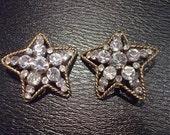 Vintage Chanel Crystal Star Earrings