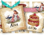 Alice - squares image - digital collage sheet - 2 x 2 inch - Printable Download