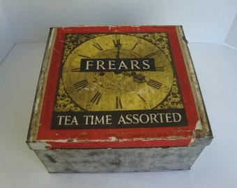 Vintage Frears Biscuit Tin