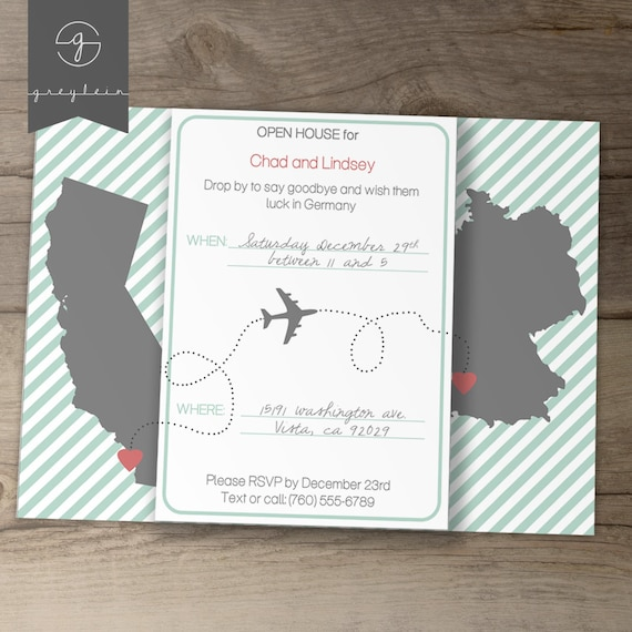 Moving Going Away Party Invitations Invites – Invitations for Going Away Party