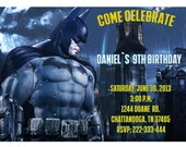 Batman Birthday - Party - Invitation - Printable - Digital File