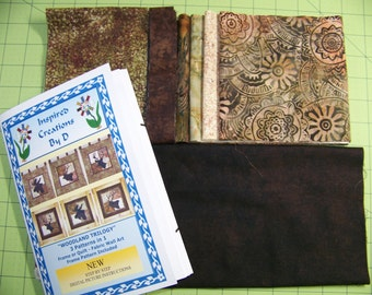 WOODLAND TRILOGY 3 Designs in 1 - Art Quilt Pattern Kit
