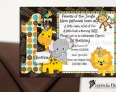 Jungle Birthday Invitation or For All Occasions   (Design Fee)