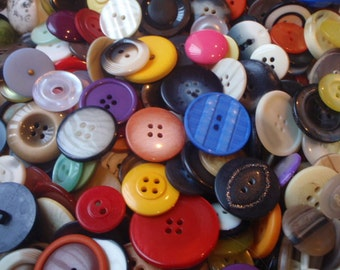20 Large Buttons 20mm to 50mm in Size Random Mix Colorful