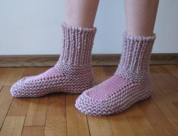 Hand knitted wool Women socks. Hand knitted wool ladies'