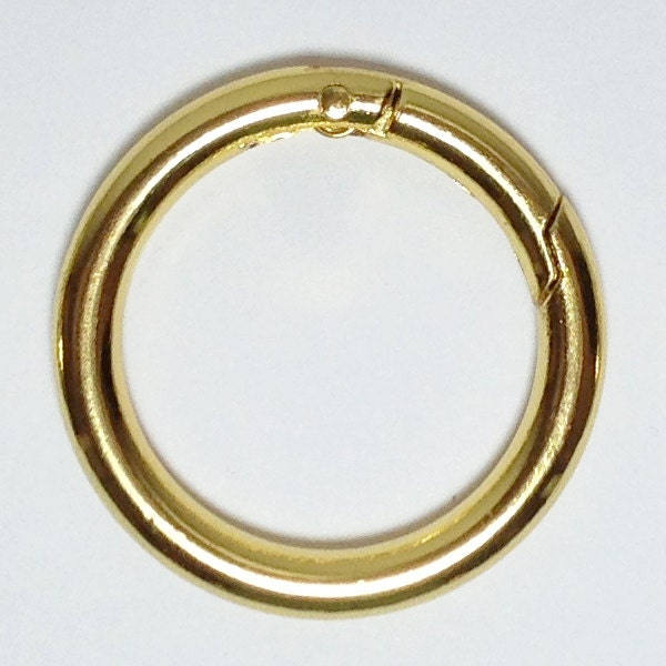 10 gold plated gate o ring 1 1 4 push snap