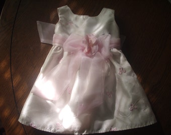 Sweet Vintage Baby Dress PINK RIBBONS