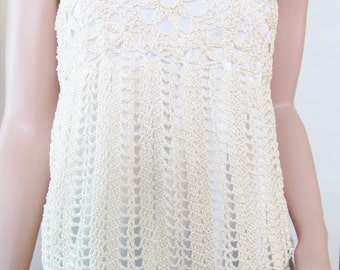 Strapless Crochet Shirt
