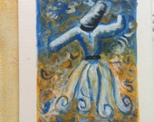 Whirling Dervish Acrylic original painting
