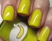 Neon Shimmer Jelly Banana Nail Polish