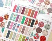 Deco Vintage Sticker Set -  Masking Sticker Set - Diary Stickers - 6 sheets - comma B