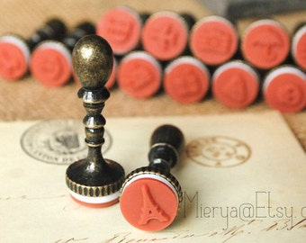 1 Piece Antique Metal Chess Stamp - Rubber Stamp - Seal Stamp - Deco Stamp - 15 patterns can choose