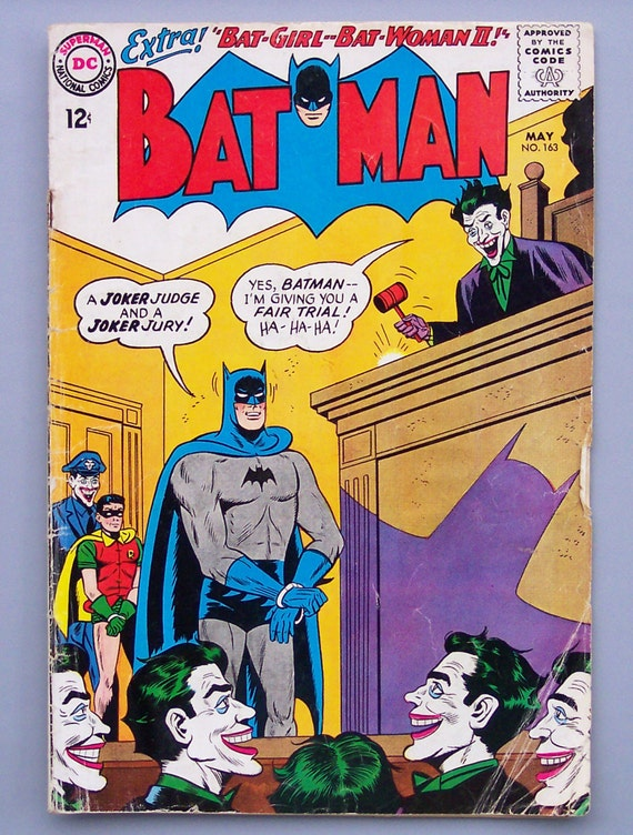 Vintage 1964 Batman Number 163 Joker issue