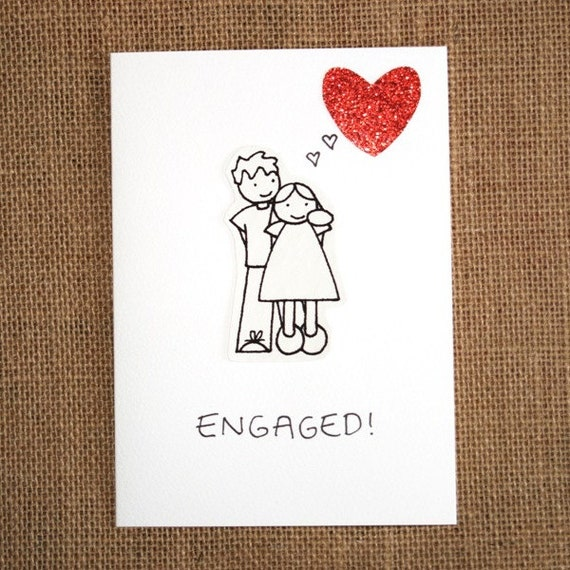 Items Similar To Engagement Card Engaged A Handmade