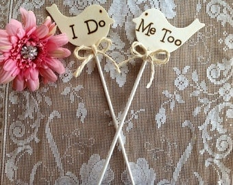 Rustic Wedding Cake Topper, Personalized.