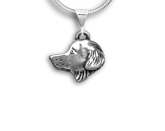 Silver Golden Retriever Pendant