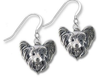 Sterling Silver Papillon Earrings