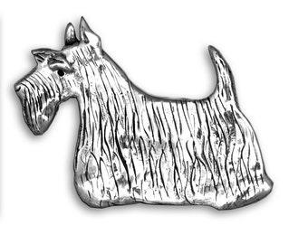 Sterling Silver Scottie Pin