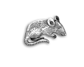 Sterling Silver Mouse Pin