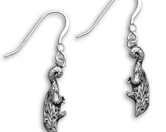 Sterling Silver Possum Earrings
