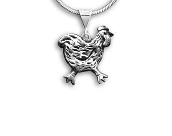 Sterling Silver Chicken Pendant