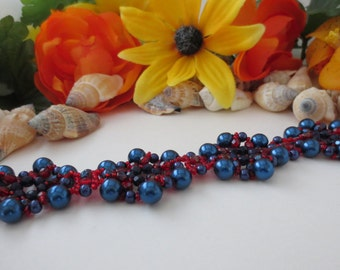 Beautiful Beadweavedl bracelet