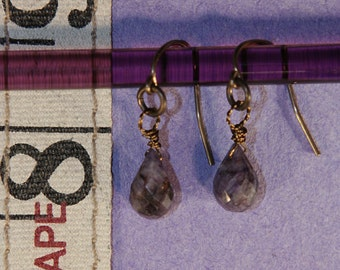 Smokey Sapphire Earrings