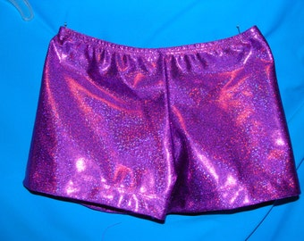 Gymnastics or Cheer Shorts - Purple Twinkle