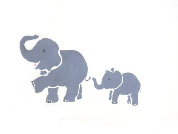 Elephant stencil eleph...